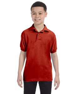 Hanes Youth 5.2 oz., 50/50 ComfortBlend® EcoSmart® Jersey Knit Polo 054Y