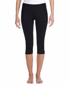 Bella + Canvas Ladies' Cotton/Spandex Capri Fit Legging