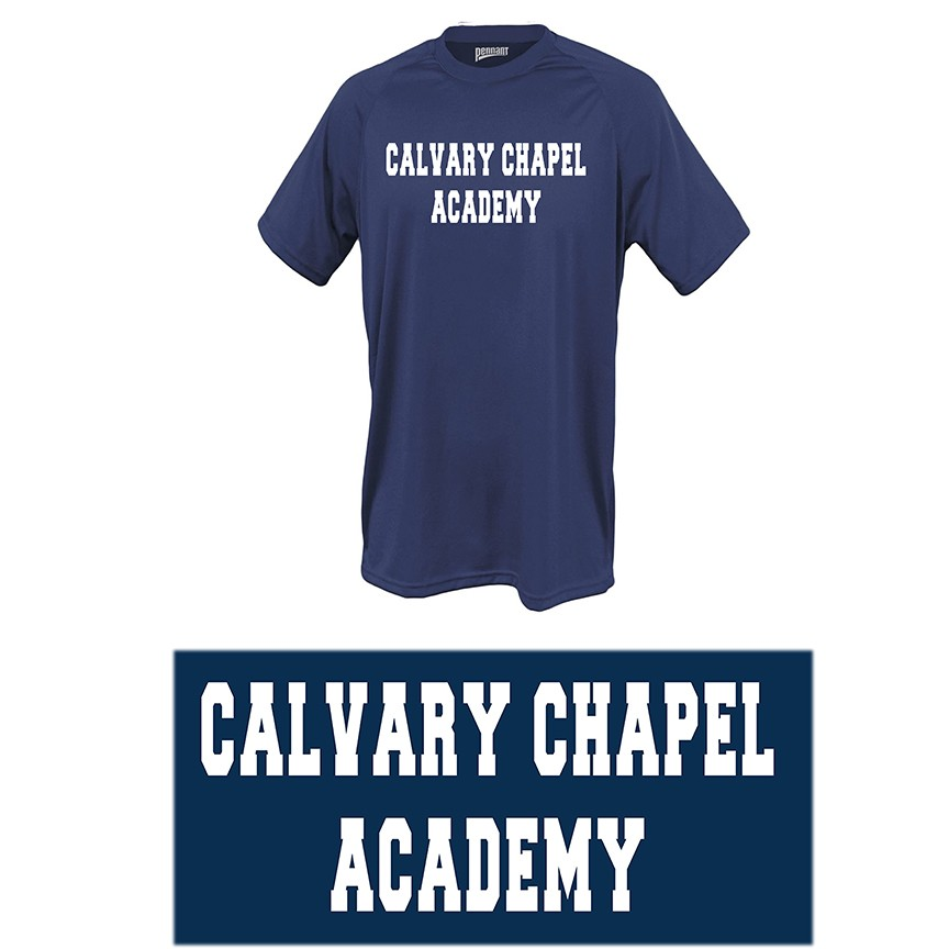 Calvary Chapel Academy Pennant Power Tee, Adult Sizes