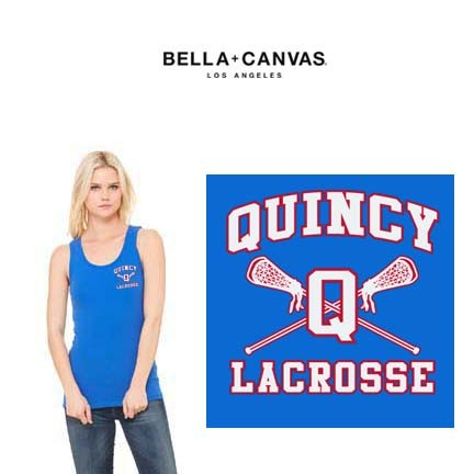 Quincy Lacrosse Bella Brand Ribbed Tank Top