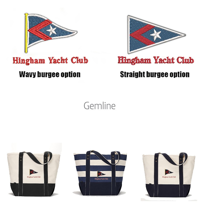 Hingham Yacht Club Gemline Brand Seaside Premium Zippered Cotton Tote