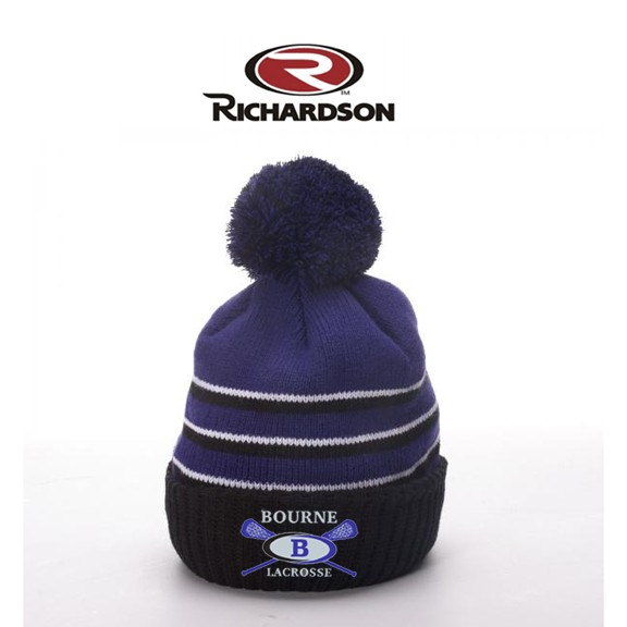 Bourne Lacrosse Richardson Brand Pom Knit Hat With Cuff