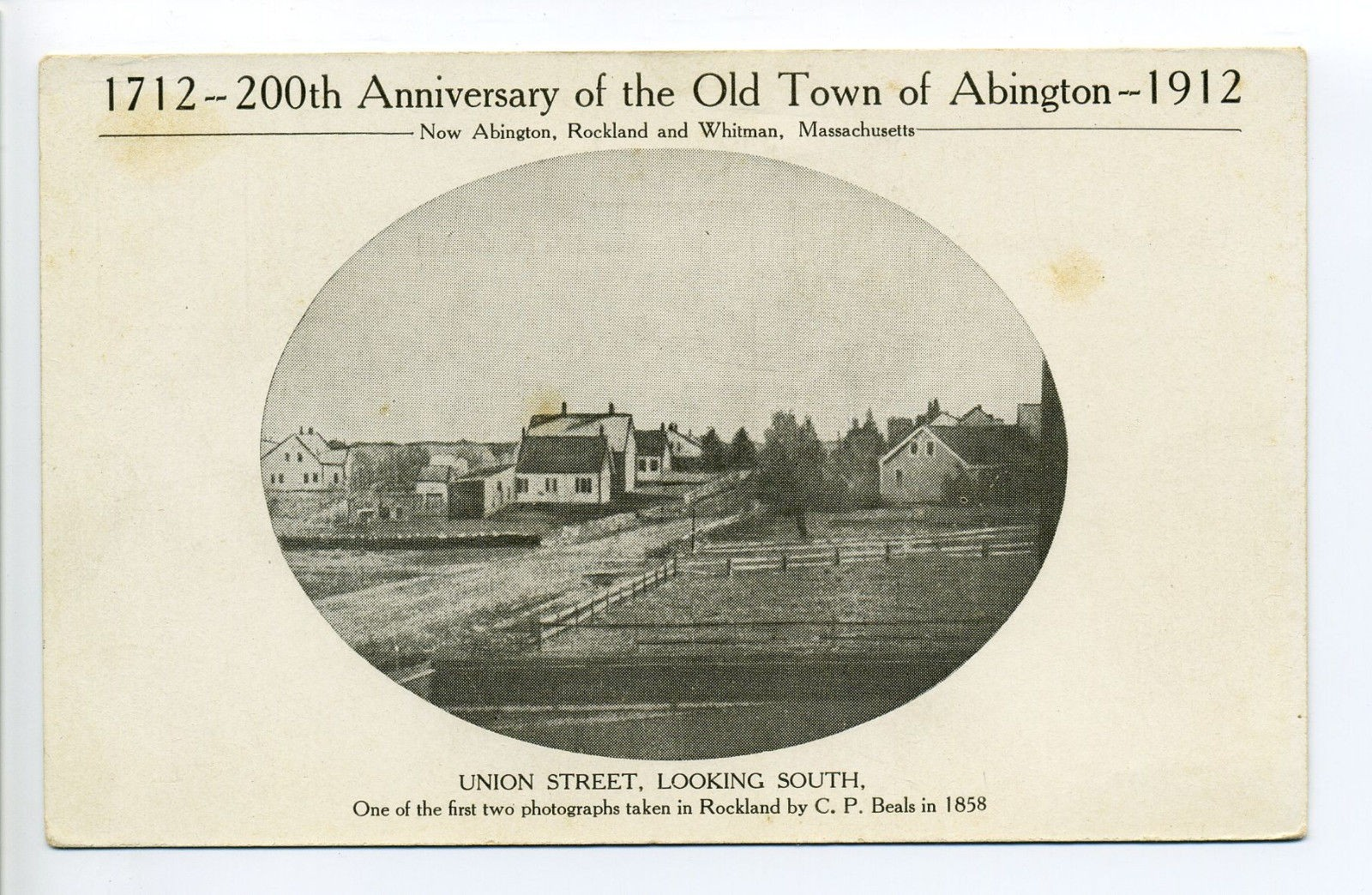 1712 200th Anniversary Of The Old Town Of Abington 1912, Union Street Looking South