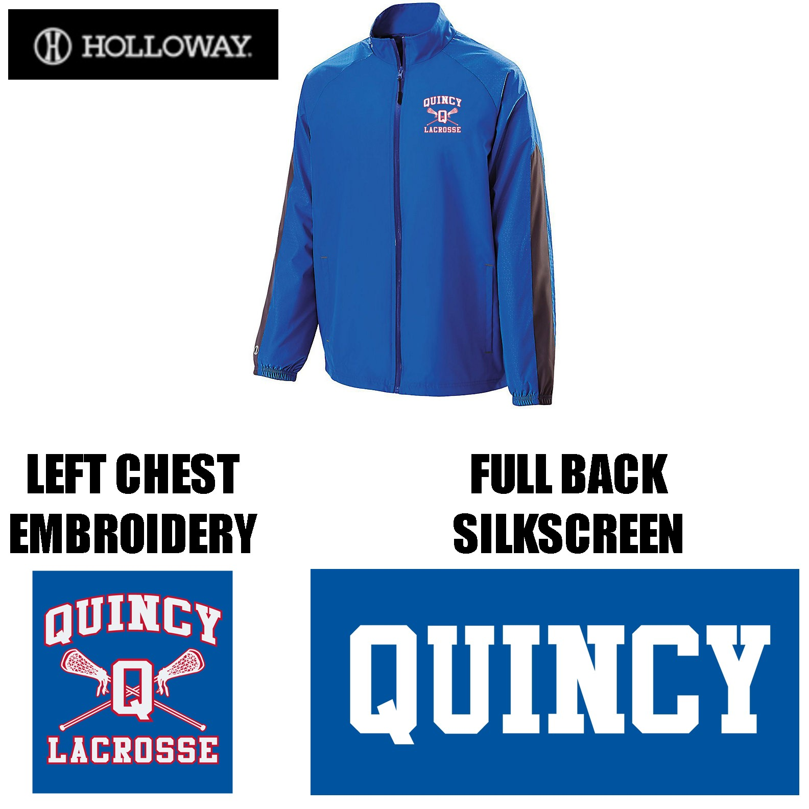 Quincy Lacrosse Holloway Brand Bionic Jacket, Youth Fit