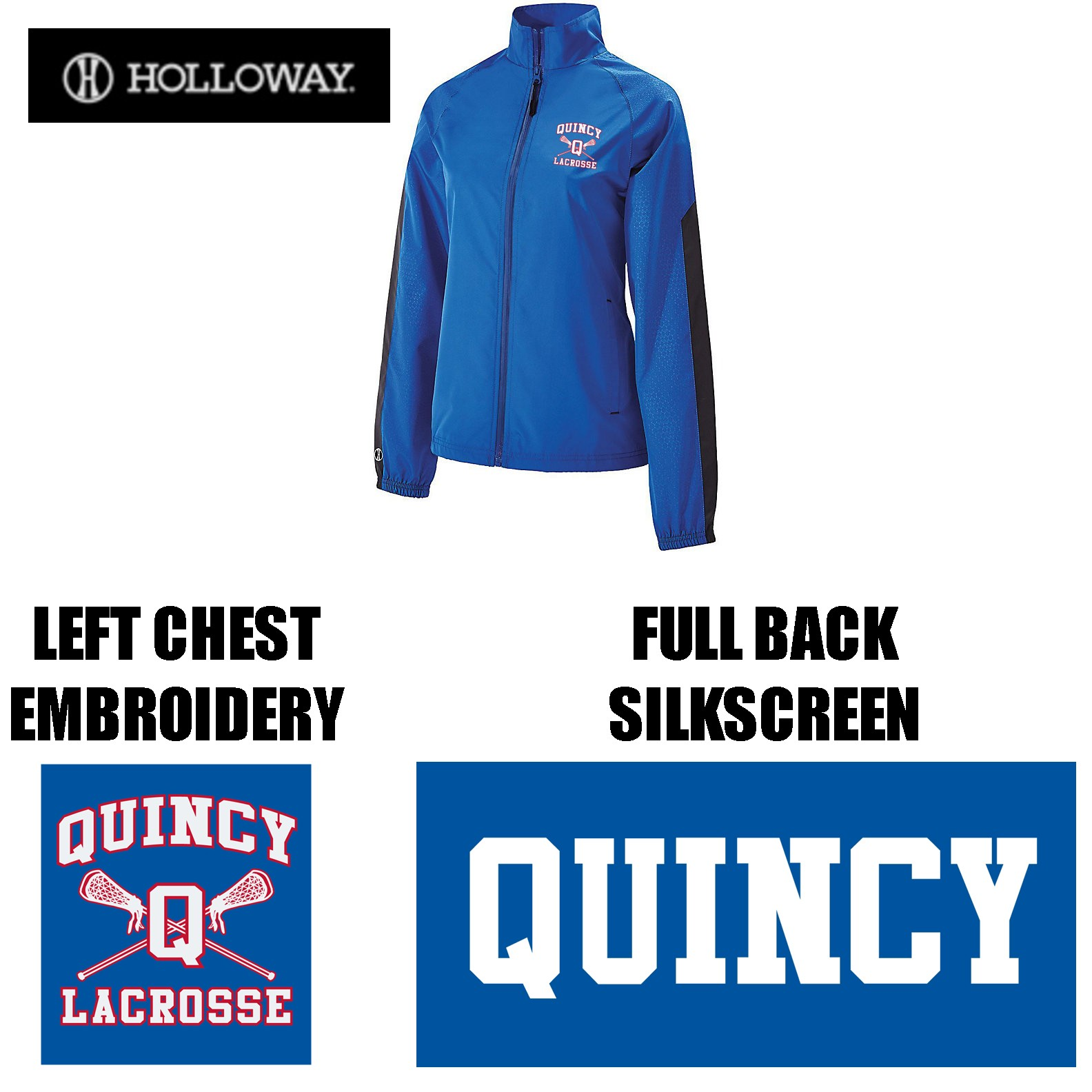 Quincy Lacrosse Holloway Brand Bionic Jacket, Ladies Fit
