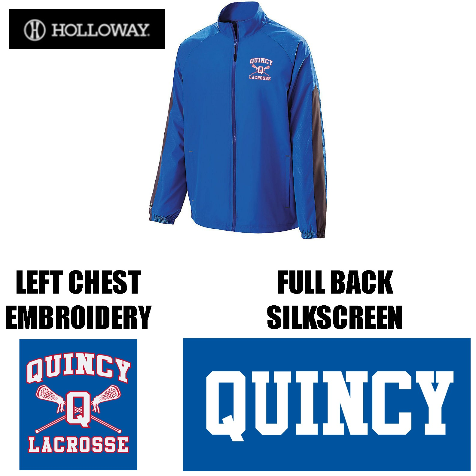 Quincy Lacrosse Holloway Brand Bionic Jacket, Men's Fit