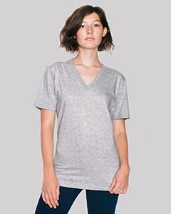 American Apparel Unisex Fine Jersey Short-Sleeve V-Neck 2456