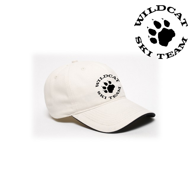 Wildcat Ski Team Pacific Headwear Brand Binded Sandwich Baseball Cap