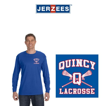 Quincy Lacrosse Jerzees Brand Adult 5.6 oz., DRI-POWER® ACTIVE Long-Sleeve T-Shirt