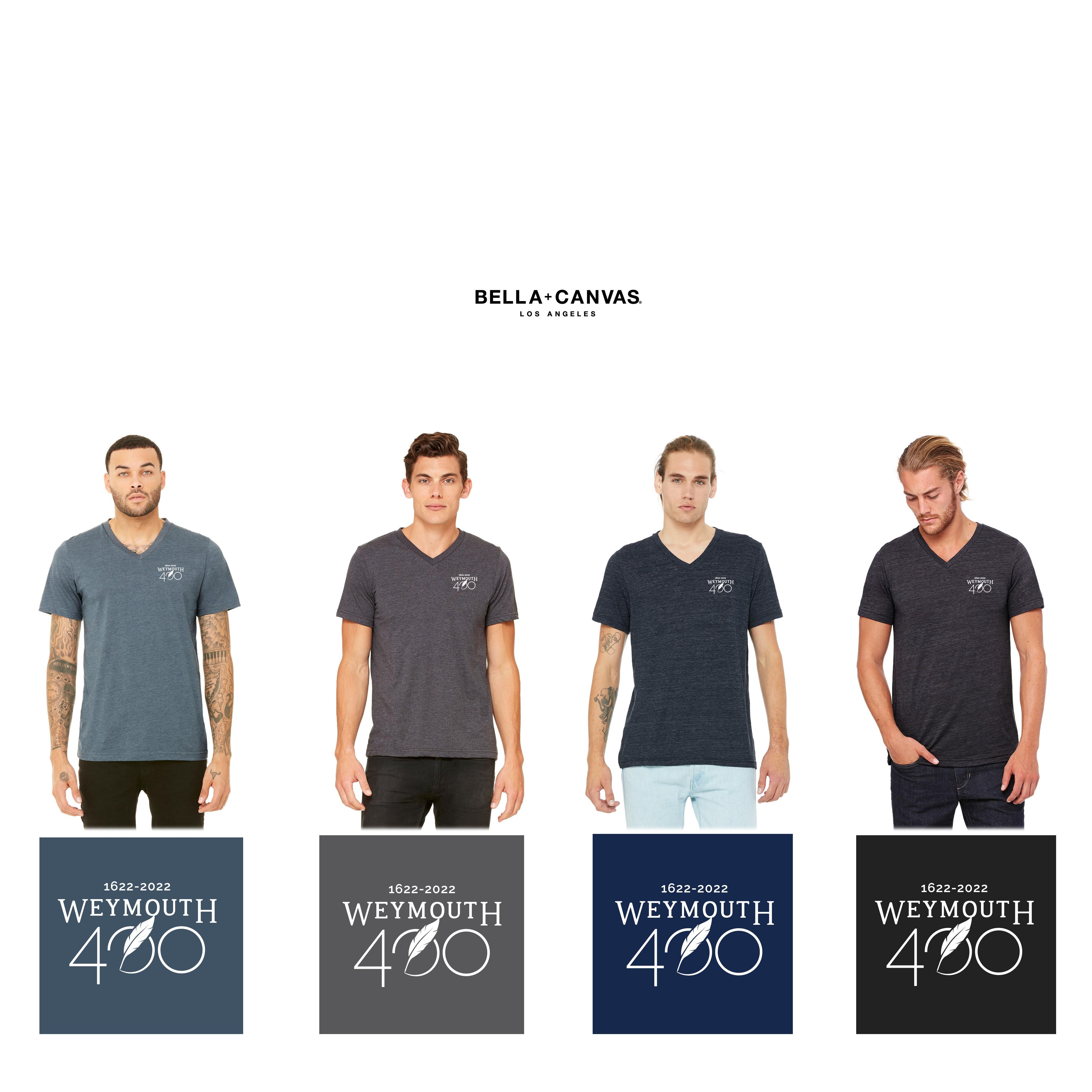 Weymouth 400 Bella + Canvas Mens/Adult Unisex Jersey Short-Sleeve V-Neck T-Shirt