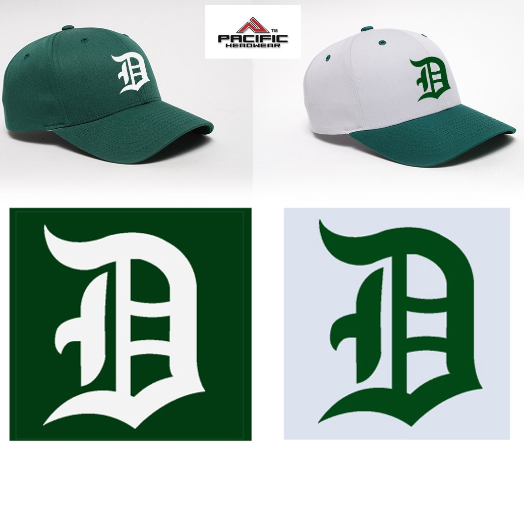 Duxbury Youth Baseball Pacific Headwear 302c Cotton Poly Cap, Adjustable, EMBROIDERED