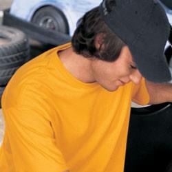 Hanes Youth 5.2 oz., 50/50 ComfortBlend® EcoSmart® T-Shirt 5370