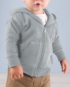 Rabbit Skins Drop Ship Infant Fleece Hooded Zip Front Sweatshirt With Pockets