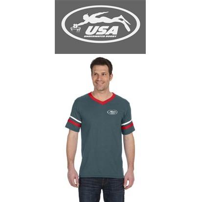 USA Underwater National Rugby Team Augusta Sportswear Sleeve Stripe Jersey
