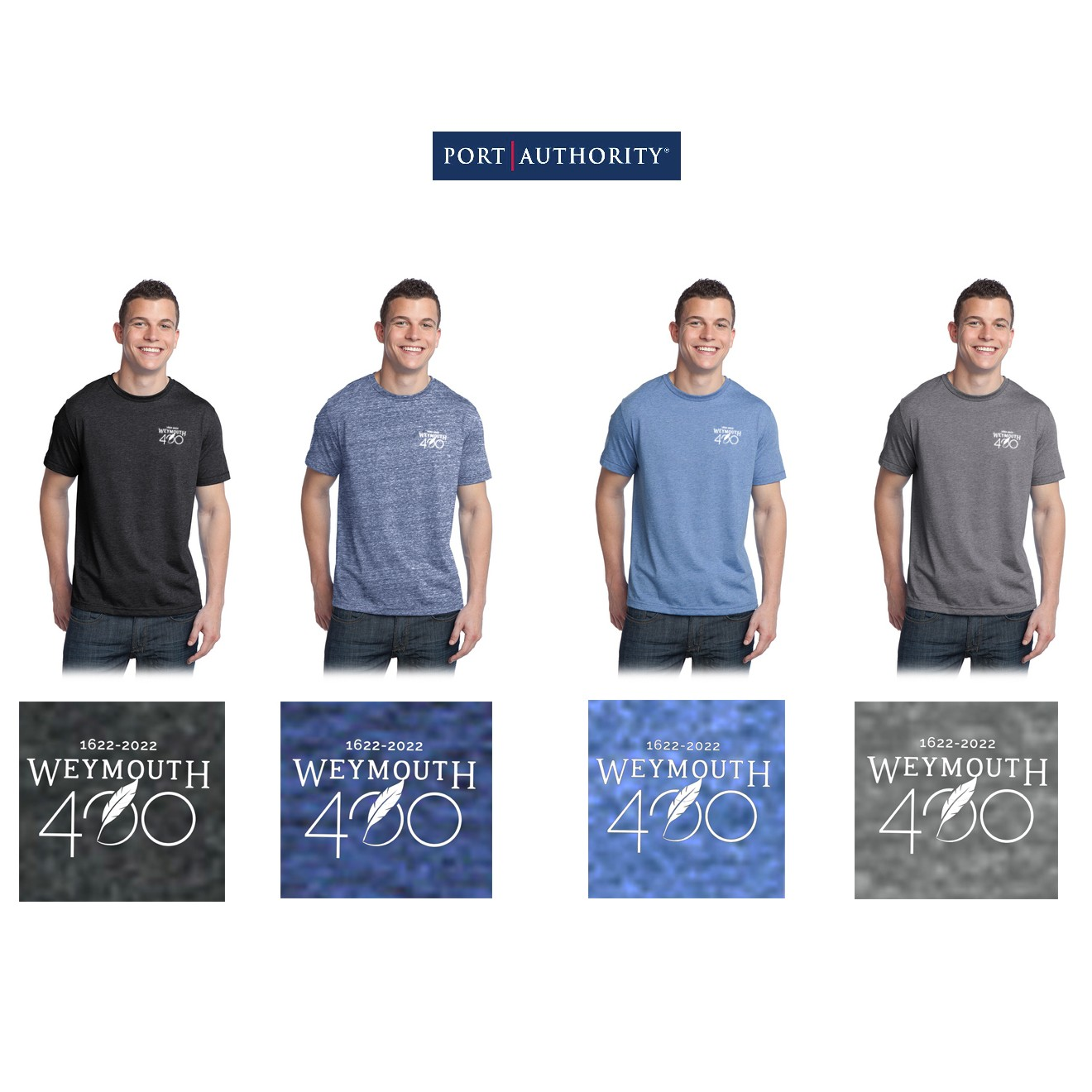 Weymouth 400 Port Authority District® Young Mens Tri-Blend Crewneck Tee