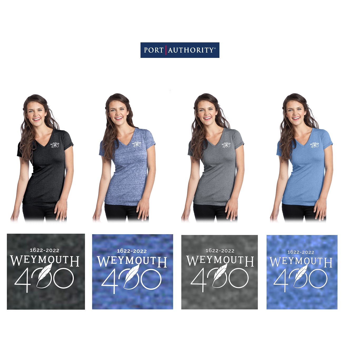 Weymouth 400 Port Authority District® Juniors Tri-Blend V-Neck Tee