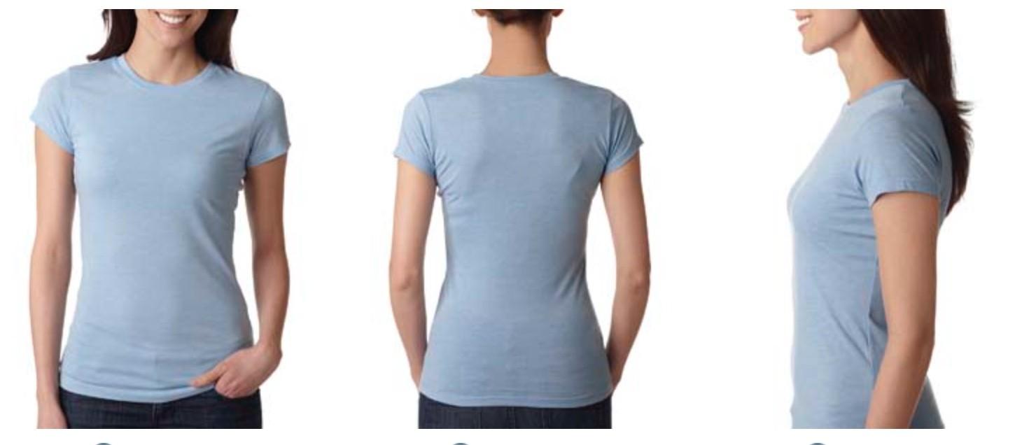 Next Level Ladies' Poly/Cotton T-Shirt 6000L