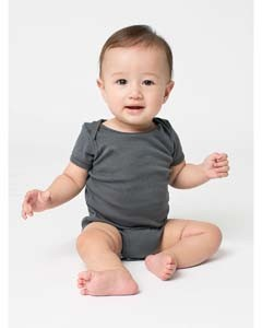 American Apparel Infant Baby Rib Short-Sleeve One-Piece 4001