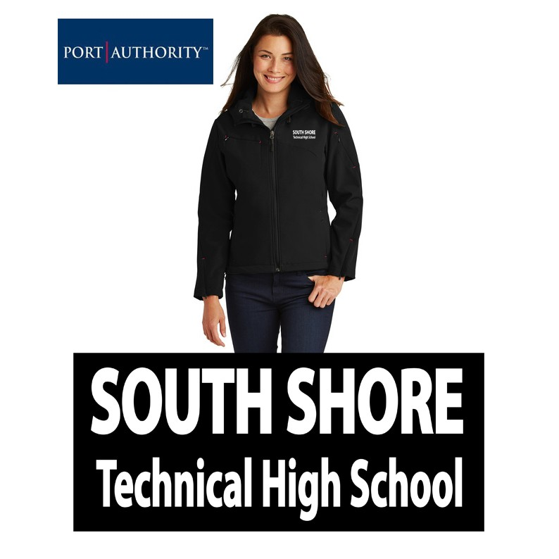 South Shore Technical High School Port Authority® Ladies Textured Hooded Soft Shell Jacket
