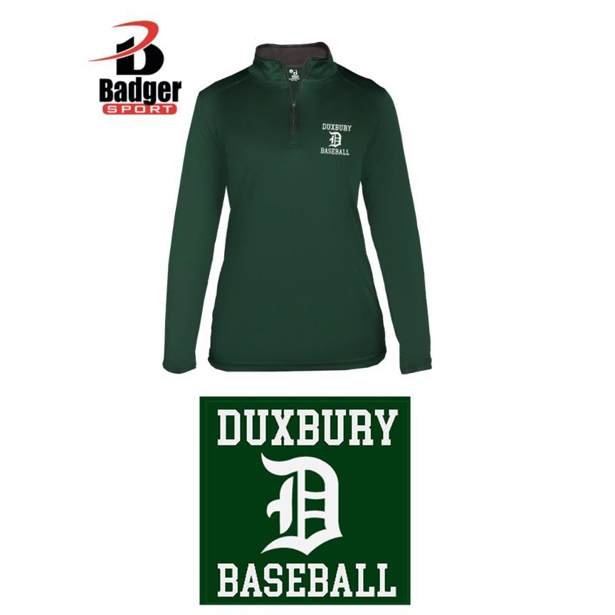 Duxbury Youth Baseball Badger B-Core 1/4 Zip, Ladies, EMBROIDERED