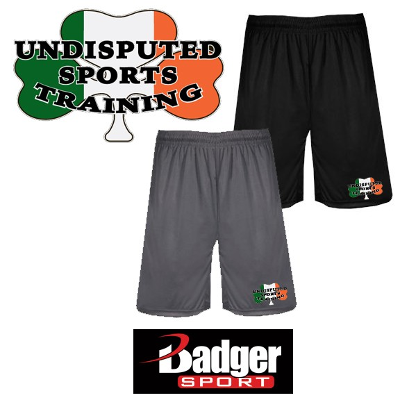 Undisputed Sports Training Badger Brand Moisture Management 9 Inch BT5 Trainer Short (with pockets)- A Premium Item!