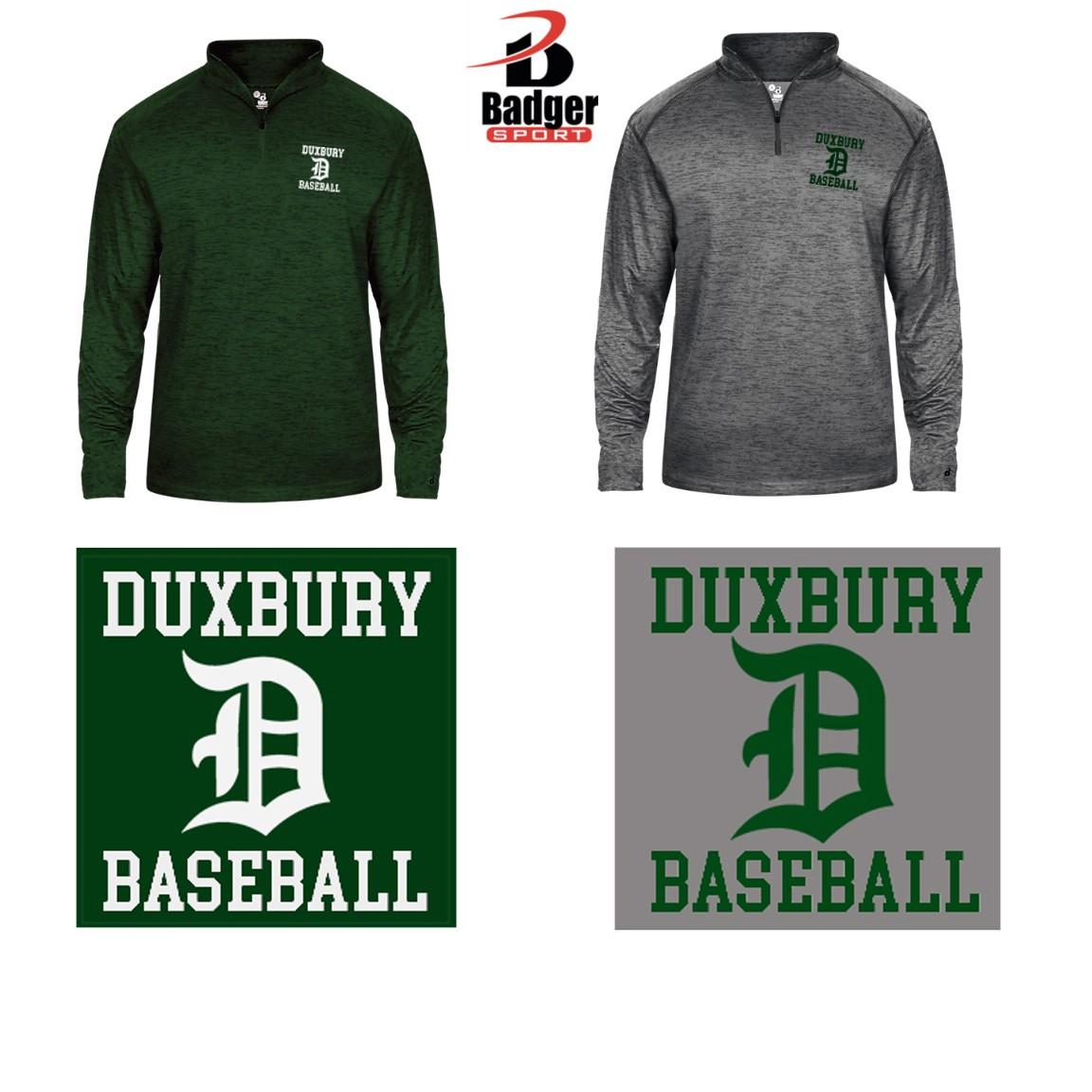 Duxbury Youth Baseball Badger Tonal Blend 1/4-Zip, Mens, EMBROIDERED