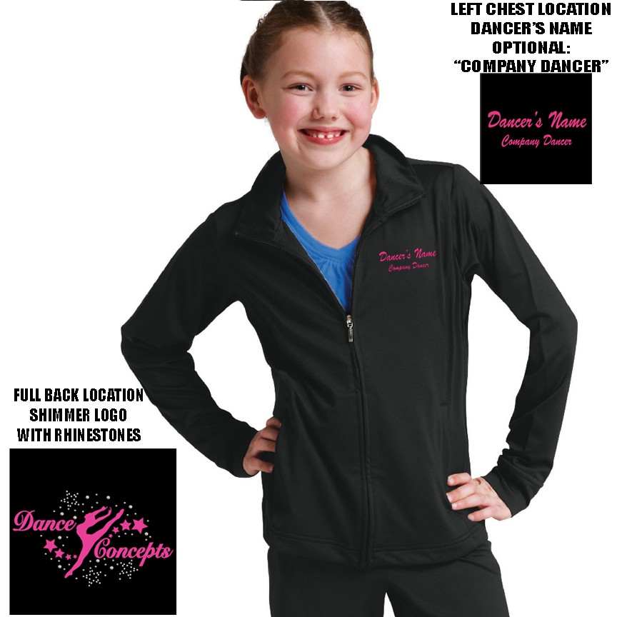 Dance Concepts Charles River Fitness Jacket, Youth Girl's