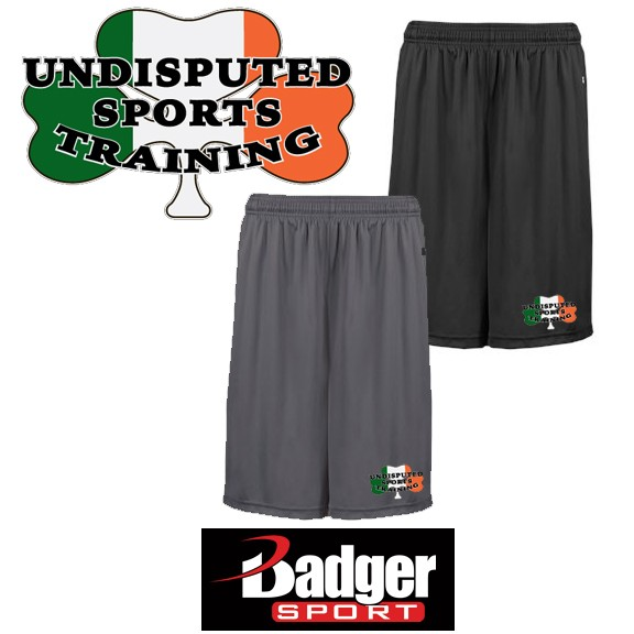 Undisputed Sports Training Badger Brand B-Core Moisture Management 10 Inch Short (with pockets)- A Best & Popular Seller!