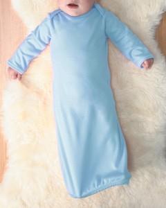 Rabbit Skins Drop Ship Infant Baby Rib Lap Shoulder Layette