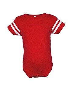 Rabbit Skins Drop Ship Infant Fine Jersey Football Bodysuit