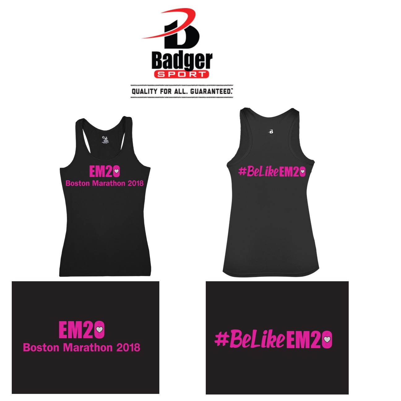 Emma Ryan Scholarship Fund Badger Brand Pro Compression Women's Racerback, Performance, Women's. Compression (Snug/Fitted), SPECIAL EDITION BOSTON MARATHON 2018