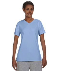 Hanes Ladies' 4 oz. Cool Dri® V-Neck T-Shirt