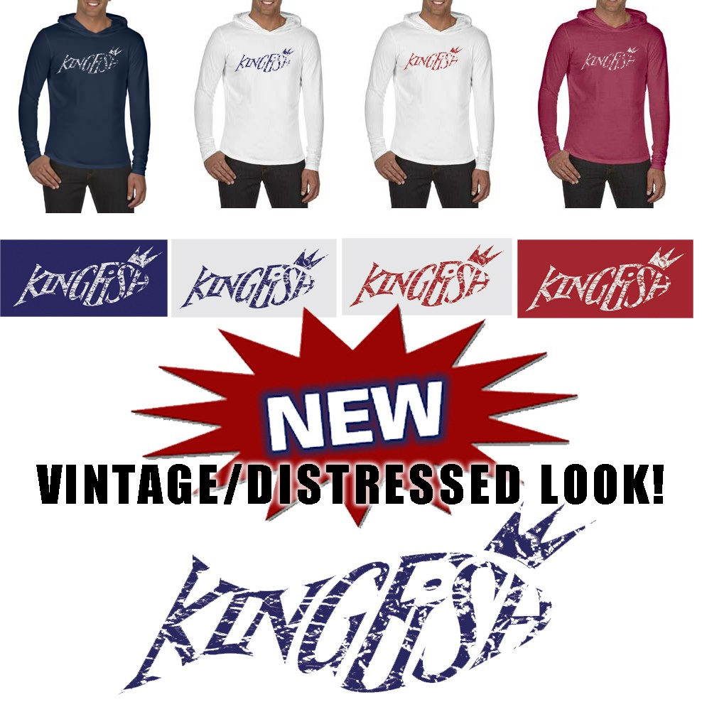 Kingfish Swim Team Comfort Colors Adult 6.1 oz. Long-Sleeve Hooded T-Shirt- NEW!