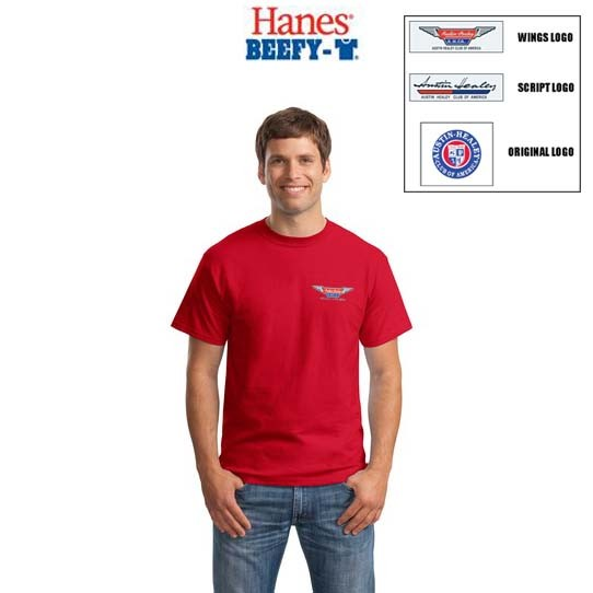 AHCA STEP- IN PROGRAM: Hanes 6.1oz 100% Cotton Beefy T With Embroidered Logo, Mens/Unisex Adult Fit, Style #5180