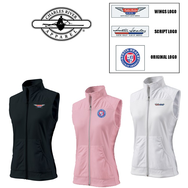 AHCA STEP- UP PROGRAM: Charles River Brand Women's Breeze Vest, Style #5195- NOTE: LIMITED AVAILABILITY