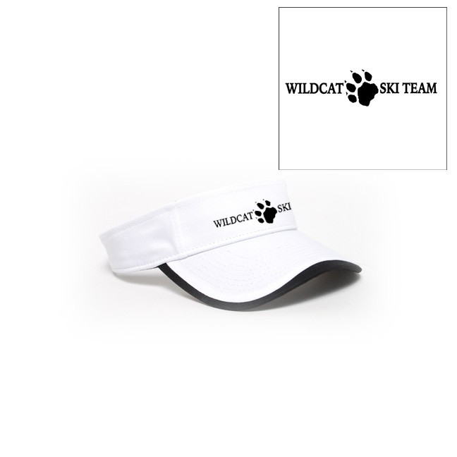 Wildcat Ski Team Pacific Headwear Twill Binding Visor