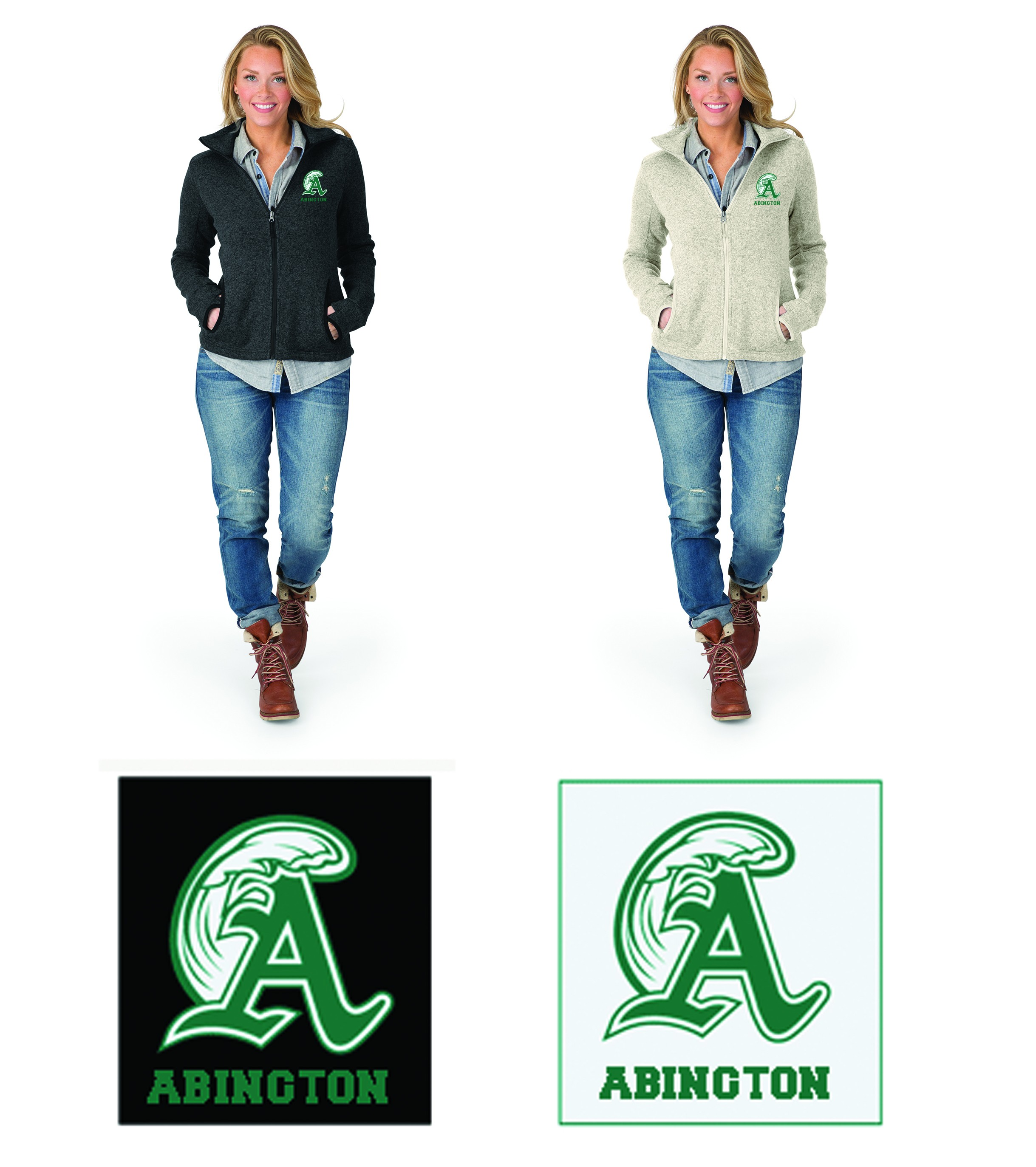 Abington Greenwave Boosters Charles River Women's Heathered Fleece Jacket