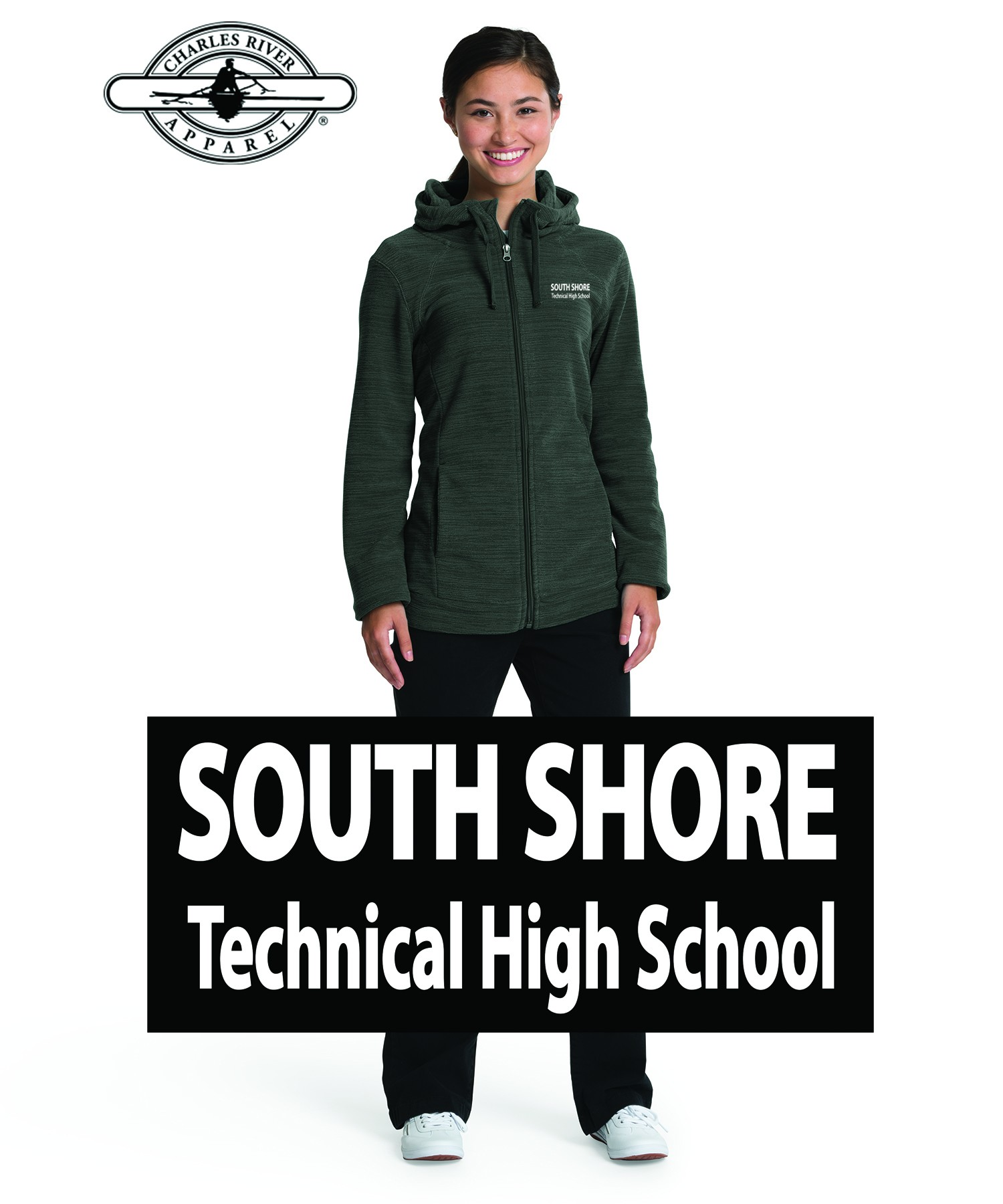 South Shore Technical High School Charles River Women's Heron Hoodie