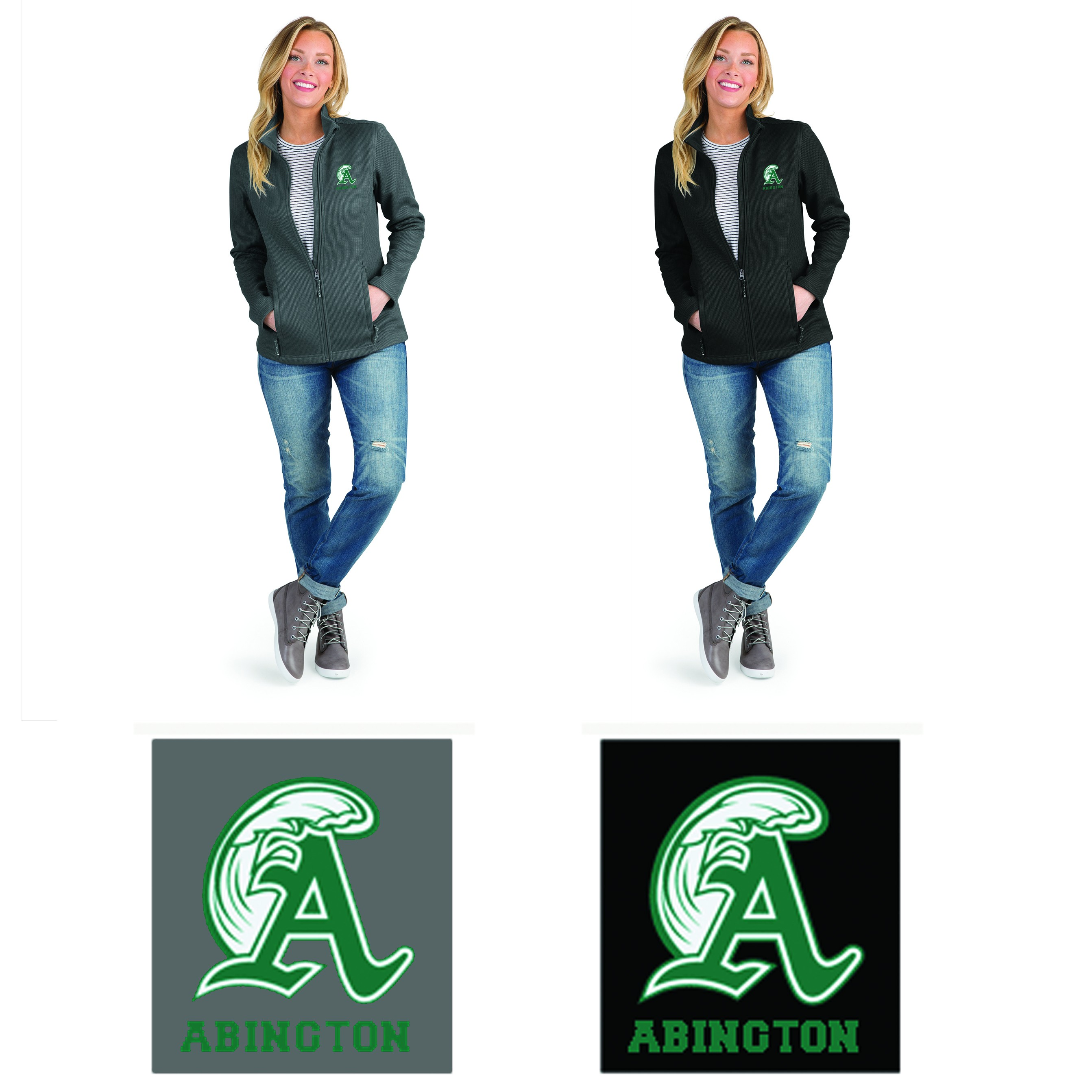 Abington Greenwave Boosters Charles River Women's Heritage Rib Knit Jacket