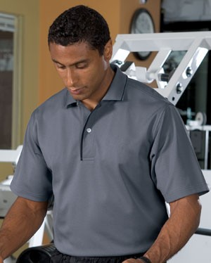 Sport-Tek Dri Mesh Sportshirt with Striped Collar K467