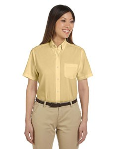 Van Heusen Ladies' Short-Sleeve Wrinkle-Resistant Oxford- CLEARANCE