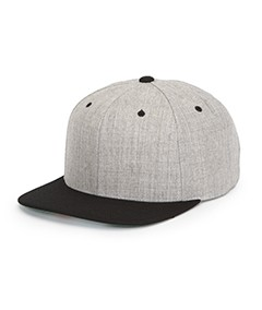 Yupoong Heather Two-Tone Adjustable Wool Cap