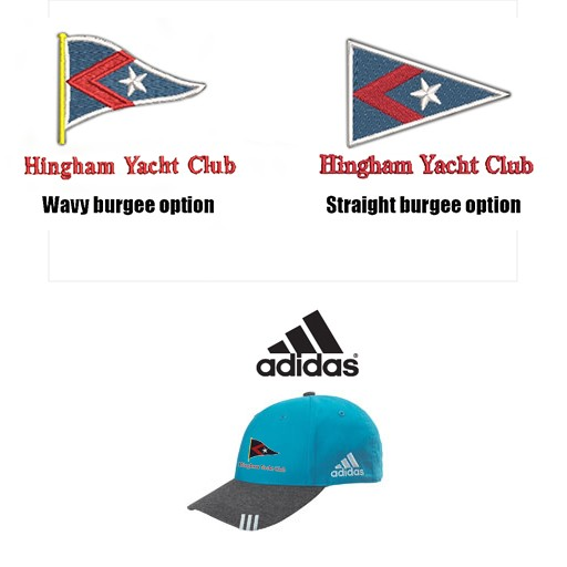 Hingham Yacht Club Adidas Brand Premium Collegiate Heather Cap- Part Of The Adidas Performance Golf Series