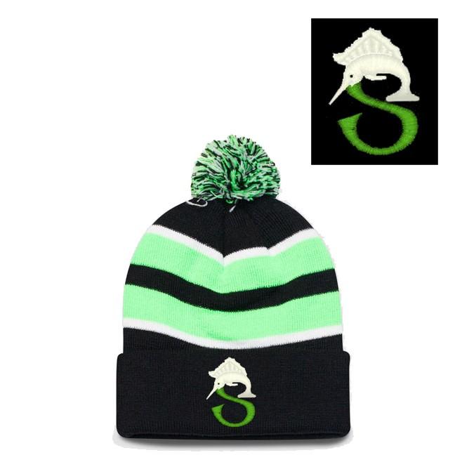 Sailfish Swim Team Pacific Headwear Brand Loose Fit Pom-Pom Knit Hat Model 641K
