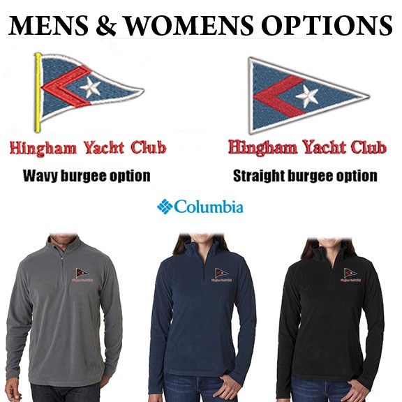 Hingham Yacht Club Columbia Crescent Valley 1/4-Zip Fleece for Men & Ladies