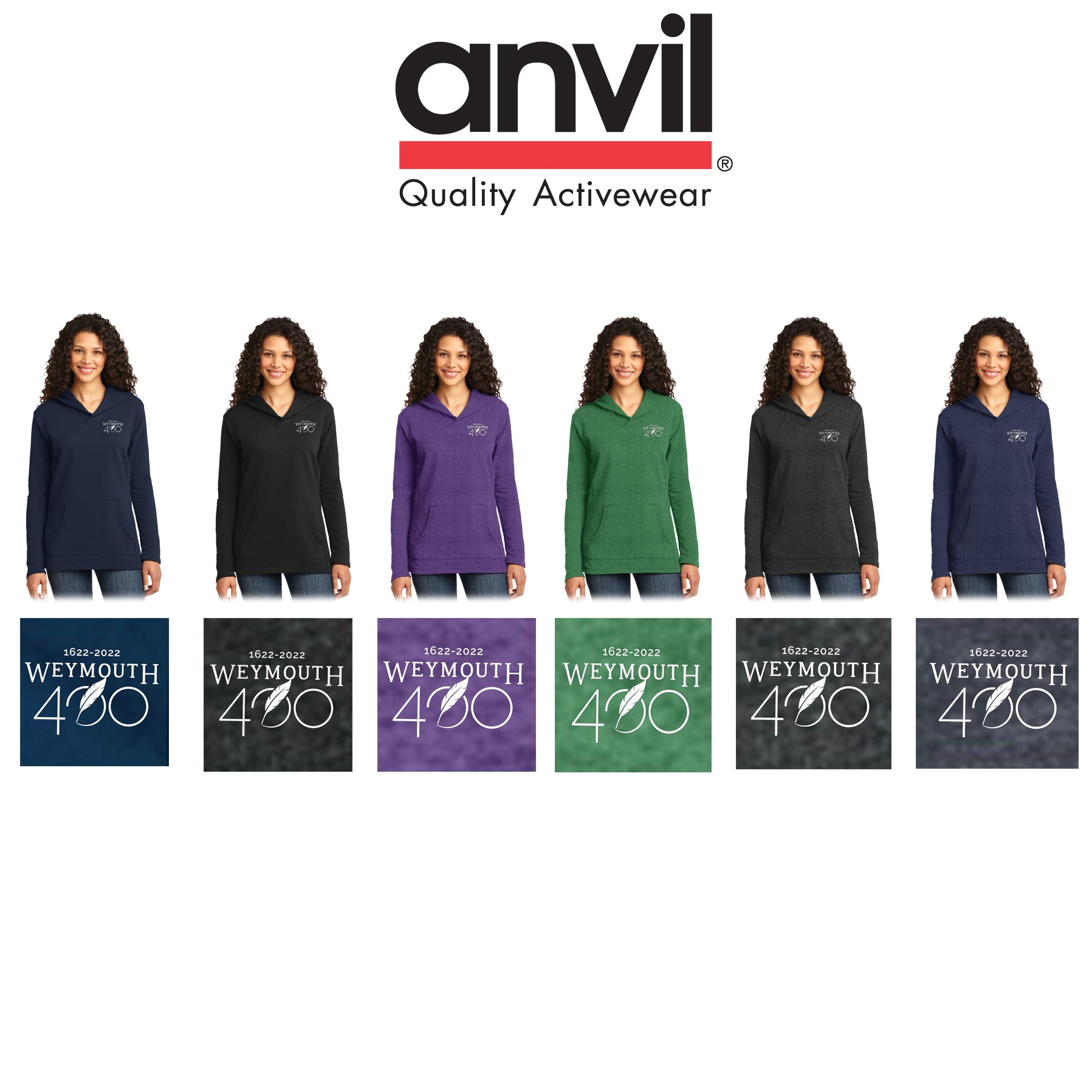 Weymouth 400 Anvil® Ladies French Terry Pullover Hooded Sweatshirt