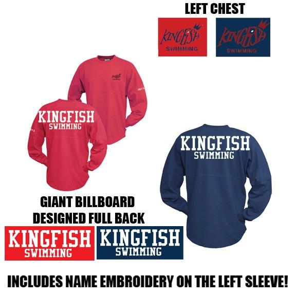 Kingfish Swim Team Pennant Billboard Crew, Adult & Youth Unisex