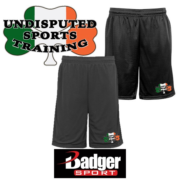 Undisputed Sports Training Badger Brand 9 Inch Mesh Short (with pockets)