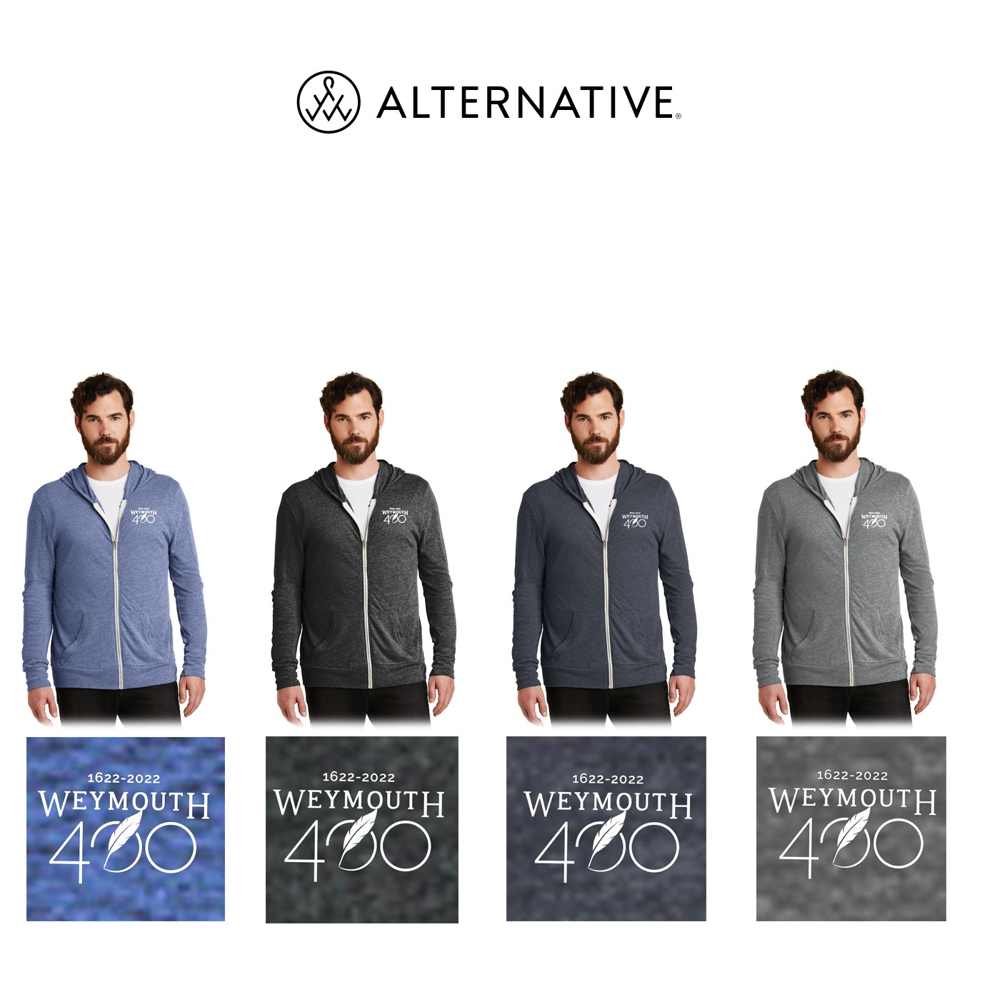 Weymouth 400 Alternative® Eco-Jersey Zip Hoodie