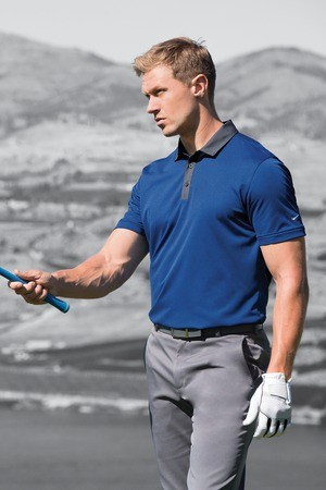 Nike Golf Dri-FIT Heather Pique Modern Fit Polo Model 779798